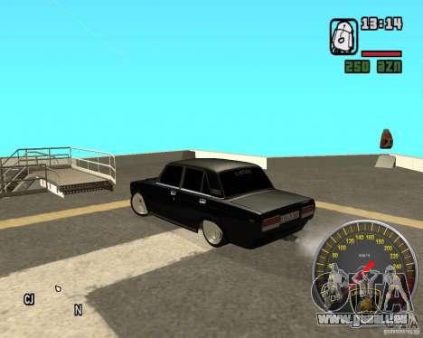 VAZ 2107 DuB pour GTA San Andreas sur la vue arrière gauche