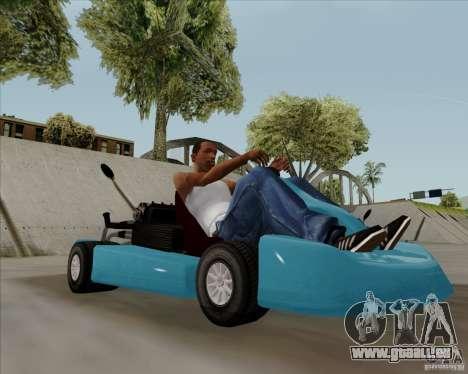 Kart pour GTA San Andreas sur la vue arrière gauche