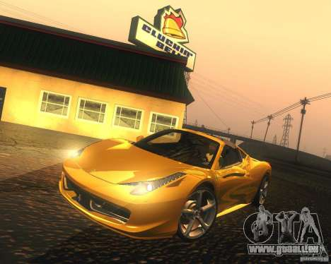 Ferrari 458 Italia Convertible pour GTA San Andreas laissé vue