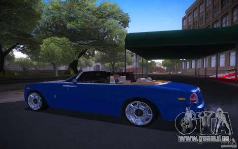 Rolls-Royce Phantom Drophead Coupe pour GTA San Andreas laissé vue