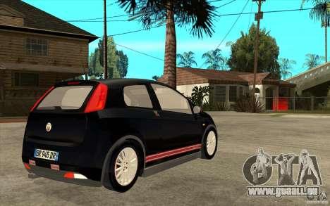 Fiat Grande Punto 3.0 Abarth für GTA San Andreas rechten Ansicht