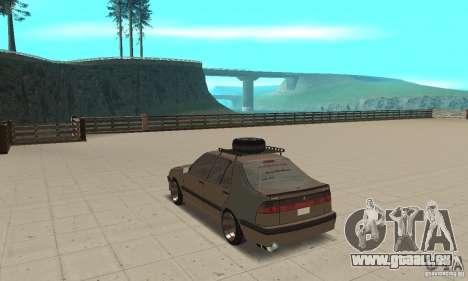 Saab 9000 GT Drifting 1998 für GTA San Andreas zurück linke Ansicht