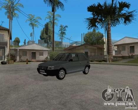 Fiat Mille Fire 1.0 2006 pour GTA San Andreas sur la vue arrière gauche