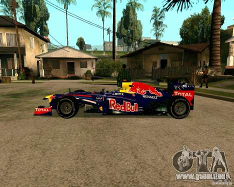 Red Bull RB8 F1 2012 für GTA San Andreas linke Ansicht