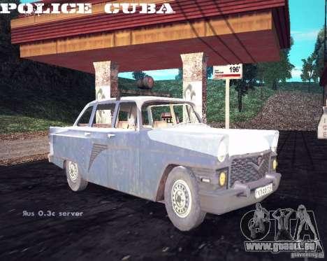 Police gaz 13 Cuba pour GTA San Andreas vue de droite