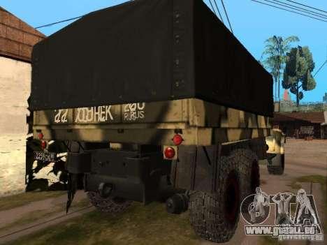 KrAZ 255 B1 v 2.0 pour GTA San Andreas vue arrière