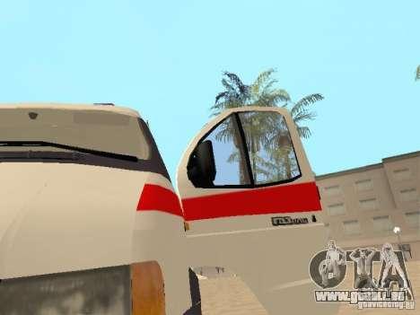 Ambulance Gazelle 2705 pour GTA San Andreas vue arrière