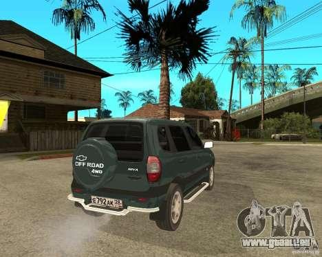NIVA Chevrolet für GTA San Andreas zurück linke Ansicht