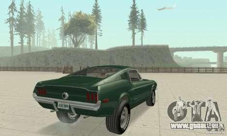 Ford Mustang Bullitt 1968 v.2 für GTA San Andreas linke Ansicht