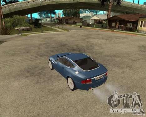 Aston Martin Vanquish für GTA San Andreas zurück linke Ansicht