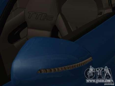 Audi TT RS pour GTA San Andreas vue de dessous
