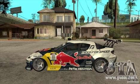 Mazda RX8 NFS Team Mad Mike pour GTA San Andreas laissé vue