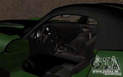 Dodge Viper un peu tuning pour GTA San Andreas laissé vue