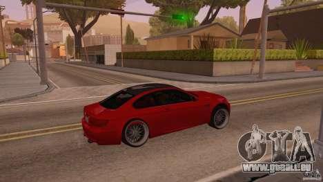 BMW M3 E92 Slammed für GTA San Andreas rechten Ansicht