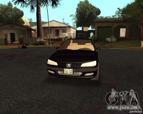 Peugeot 406 pour GTA San Andreas vue intérieure