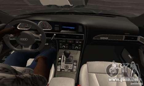 Audi RS6 2009 für GTA San Andreas zurück linke Ansicht