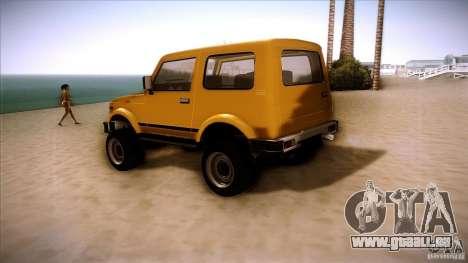 Suzuki Samurai für GTA San Andreas rechten Ansicht