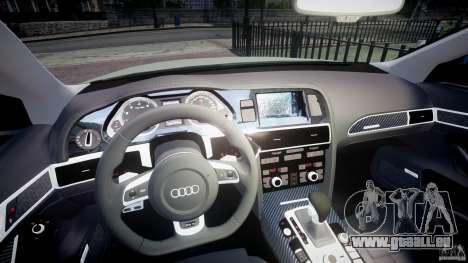 Audi RS6 2010 für GTA 4 Rückansicht