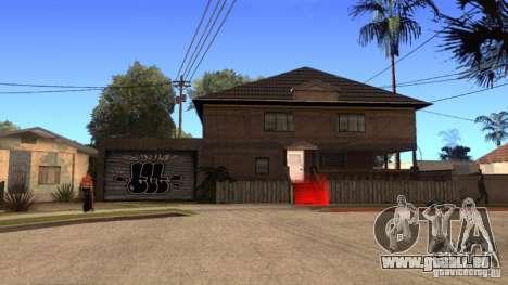 Nouvelle maison CJ (Cj nouvelle maison GLC prod  pour GTA San Andreas troisième écran
