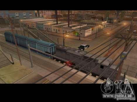 Wagons de marchandises des surfeurs métro pour GTA San Andreas vue de droite