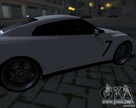 Nissan GTR-35 Spec-V pour GTA San Andreas vue de dessus