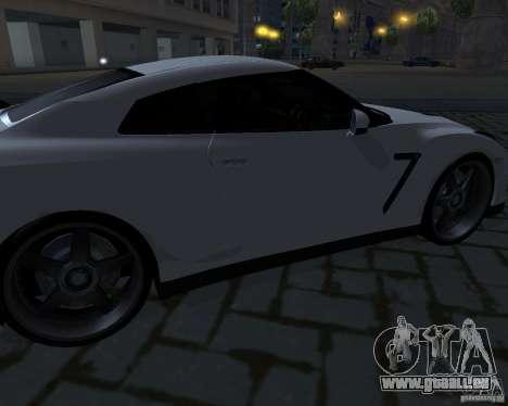 Nissan GTR-35 Spec-V für GTA San Andreas obere Ansicht