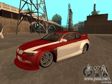 BMW M3 E92 Tunable pour GTA San Andreas moteur