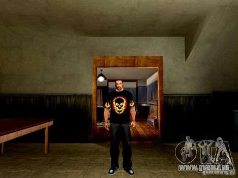 Schwarzes T-shirt mit einem Schädel für GTA San Andreas