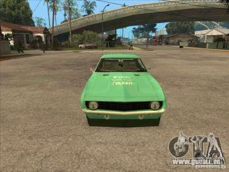 Chevrolet Camaro Falken 1969 pour GTA San Andreas vue arrière