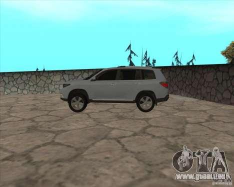 Toyota Highlander pour GTA San Andreas laissé vue