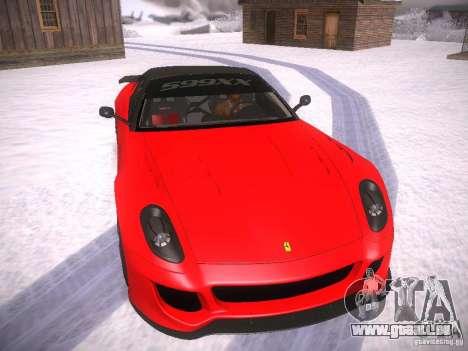 Ferrari 599XX pour GTA San Andreas laissé vue