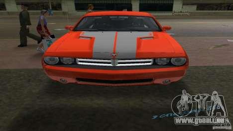 Dodge Challenger pour GTA Vice City sur la vue arrière gauche