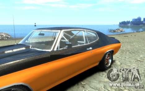Chevrolet Chevelle SS 1970 pour GTA 4 vue de dessus