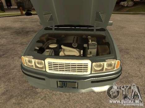HD Mafia Sentinel pour GTA San Andreas vue de droite