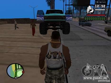 Un monstre dans le style de FC ZENIT pour GTA San Andreas vue de droite