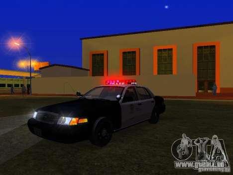Ford Crown Victoria San Andreas State Patrol pour GTA San Andreas vue de dessous
