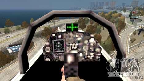Liberty City Air Force Jet für GTA 4 Rückansicht