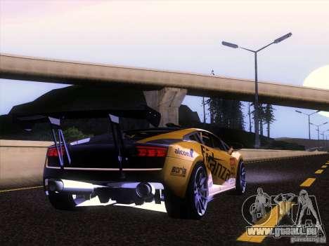 Lamborghini Gallardo Racing Street pour GTA San Andreas vue arrière