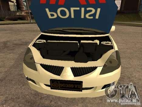 Mitsubishi Lancer Police Indonesia pour GTA San Andreas vue de droite