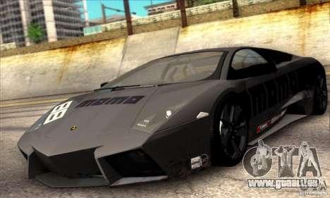 Lamborghini Reventon pour GTA San Andreas vue intérieure