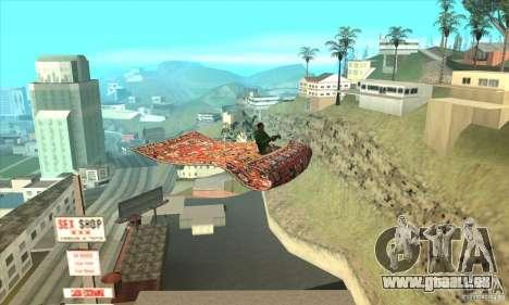 Flying Carpet v.1.1 für GTA San Andreas Rückansicht