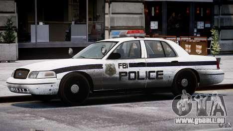 Ford Crown Victoria FBI Police 2003 pour GTA 4 Salon