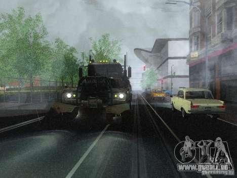 Armored Mack Titan Fuel Truck für GTA San Andreas rechten Ansicht