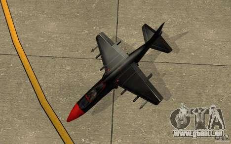 Black Hydra v2.0 pour GTA San Andreas vue arrière