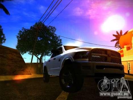 Dodge Ram Heavy Duty 2500 pour GTA San Andreas sur la vue arrière gauche