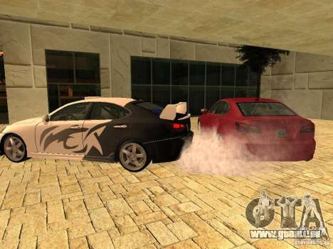 Lexus IS 350 pour GTA San Andreas laissé vue