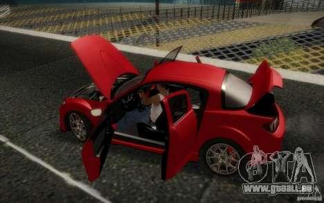 Mazda RX-8 R3 2011 pour GTA San Andreas vue intérieure