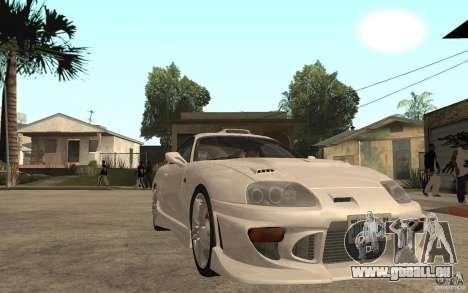 Toyota Supra Tunable pour GTA San Andreas vue arrière