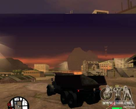 KrAZ-256 Kipper für GTA San Andreas zurück linke Ansicht