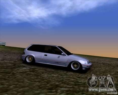 Honda Civic EF9 Hatch Stock pour GTA San Andreas vue arrière